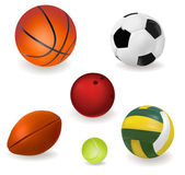 Big set of sport balls. Vector illustration. — Stock Vector