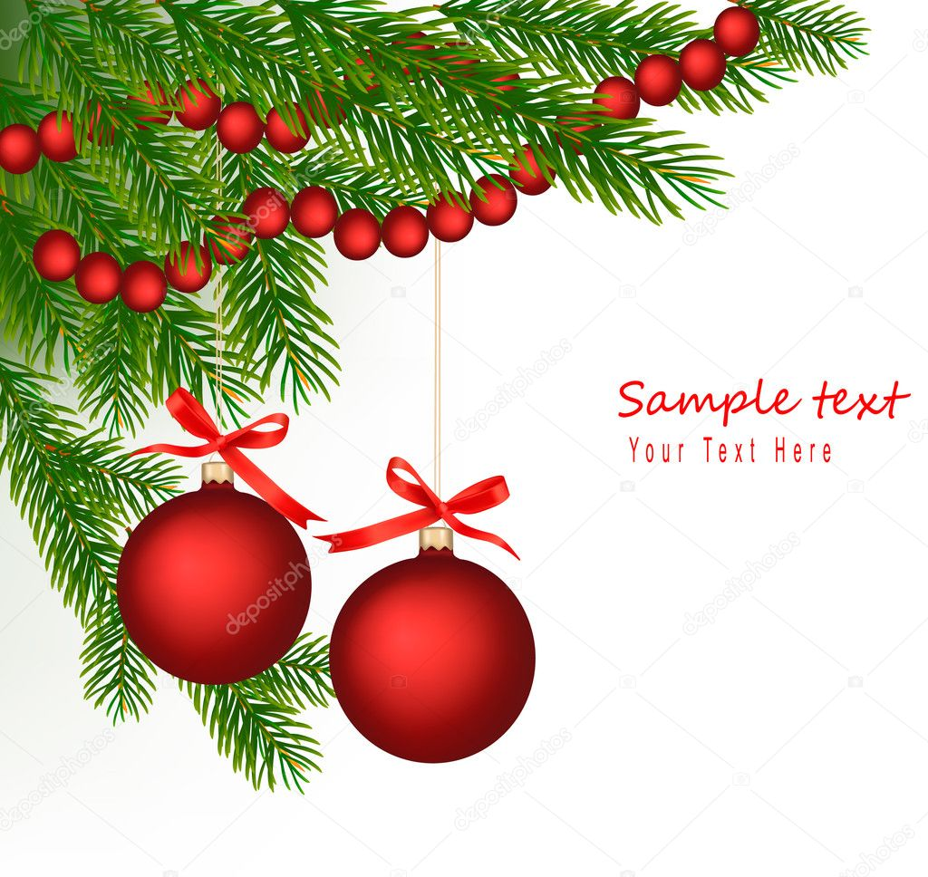 Christmas background. Vector. — Stock Vector #7183011