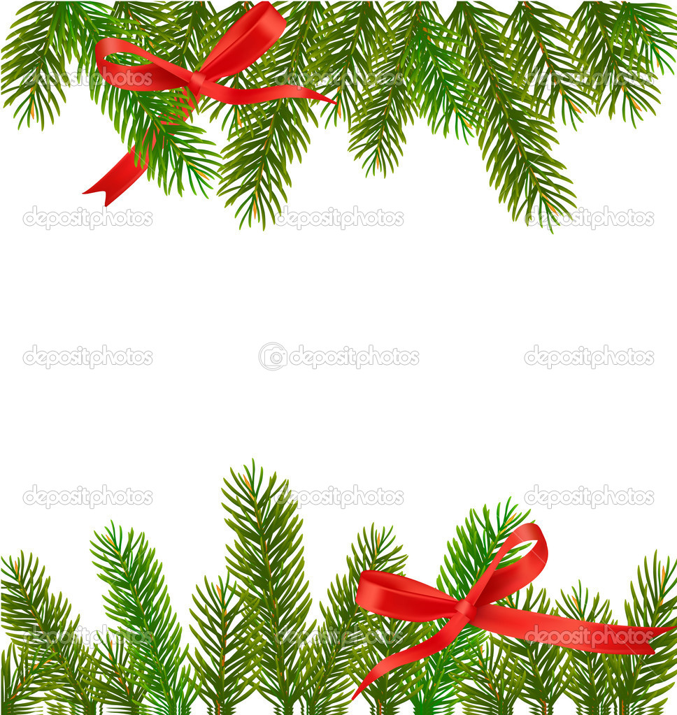 Xmas tree branches. Vector  Stock Vector #7183035