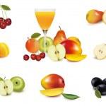 Group of fruit. Vector. — Stock Vector