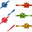 Big set of gift bows with ribbons. Vector. - Imagen vectorial