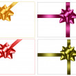 Collection of holiday colored bows with ribbons. Vector. — Stock Vector