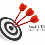 Three darts hitting a target. Success concept. Vector illustration — Stock Vector #7264354
