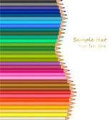 фон с цветные карандаши. вектор — Cтоковый вектор