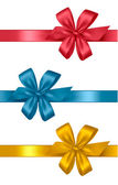 Collection of colored gift bows with ribbons. Vector. — Stock Vector
