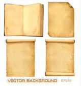 Satz der alten papiere getragen. vektor — Stockvektor