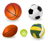 Set of sport balls. Vector. — Stock Vector