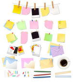 Collection of stationery for the office. Vector illustration — Stock Vector