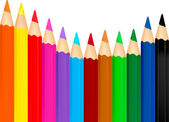 Color pencils on a white. Vector — Stock Vector