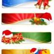 Royalty-Free Stock Vector Image: Set of winter christmas banners. Vector illustration