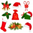 Set of Christmas objects. Vector. — Stock Vector #7792142