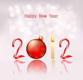 Happy new year 2012! New year design template. Vector illustration. — Wektor stockowy