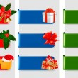 Set of winter christmas banners. Vector illustration — Stock Vector