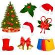 Set of Christmas icons. Vector illustration. — Stock Vector