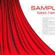 Royalty-Free Stock Vector Image: Background with red velvet curtain.
