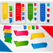 Huge set of colorful origami paper banners. Vector illustration. — Stock Vector #7836380