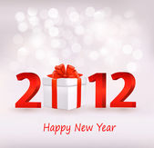 Happy new year 2012! New year design template. Vector illustration. — Stock Vector