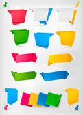 Obrovská sada barevné origami papír bannery. vektorové ilustrace. — Stock vektor