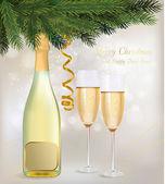 Ilustração. dois copos de champanhe — Vetorial Stock