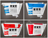 Insieme di modelli di business web site design. illustrazione vettoriale. — Vettoriale Stock