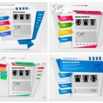 Set of business website design templates. Vector illustration. — Stock Vector #7854994