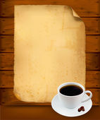 Restaurant menu on the old paper and coffee. Vector. — Stock Vector