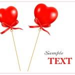 Two valentine hearts. Vector. — Stock Vector