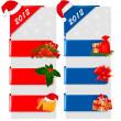 uppsättning vinter färg jul tecken. vektor illustration — Stockvektor
