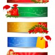 Set of winter christmas backgrounds. Vector illustration — Stock Vector