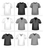 T-shirt design template. Vector illustration. — Stock Vector