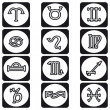 Stock Vector: Zodiac Sign black and white