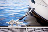 Mooring at a pier — Stock Photo