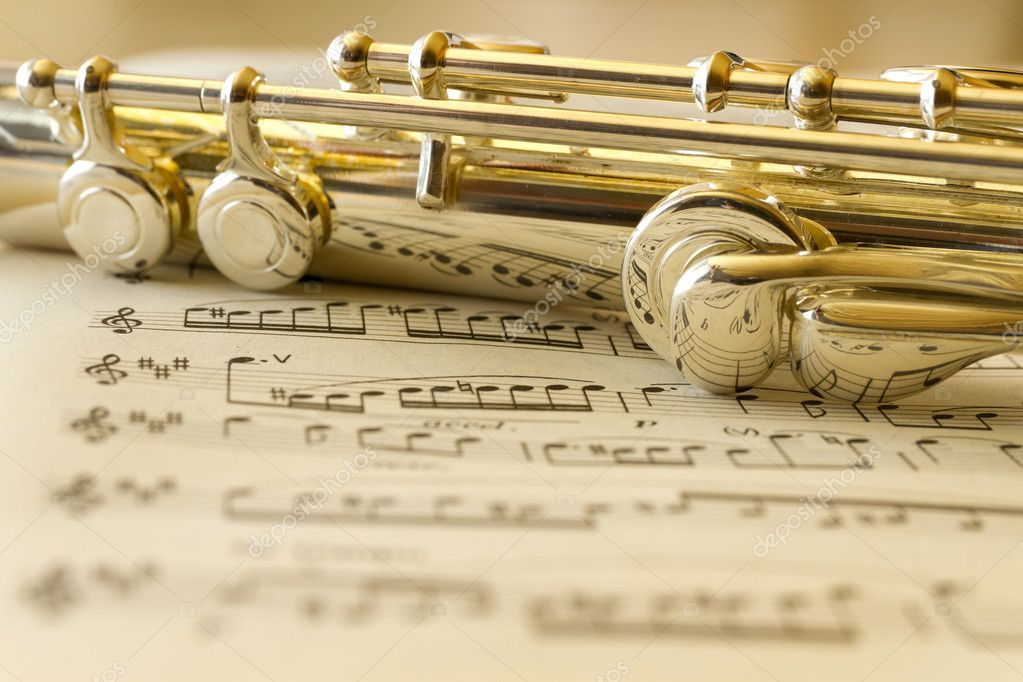 Detail from a flute  Stock Photo #6933892