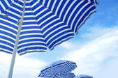 Blue Umbrellas — Stock Photo