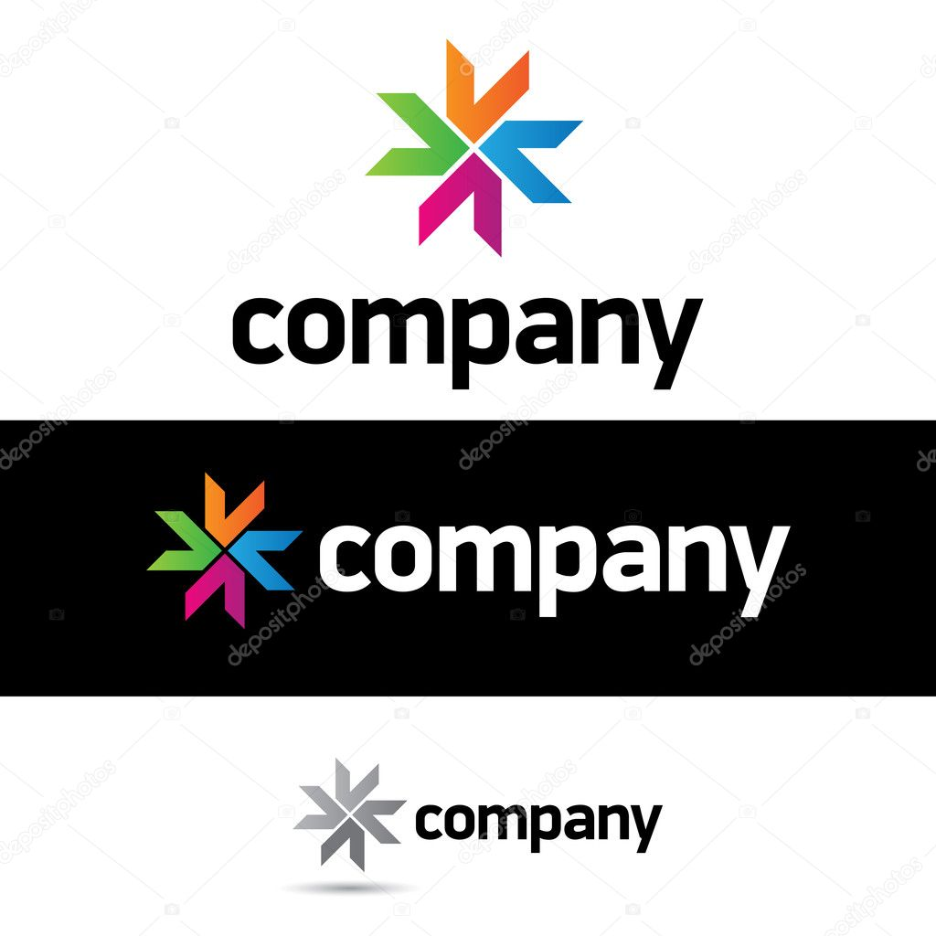 Beautiful corporate logo design template for your business. just remove the word company and add your brand name. — Stock Vector #6849751
