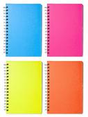 Puste kolor notebooki — Zdjęcie stockowe