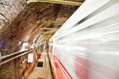 Old Tunnel Metro in Motion — Stock Photo