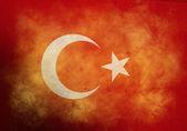 Grunge Turkish Flag — Stock Photo