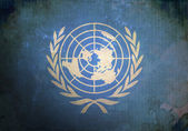 Grunge United Nations Flag — Stock Photo