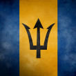 Barbados Grunge Flag - Stock Photo