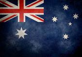 Australian Grunge Flag — Stock Photo