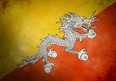 Bhutan Grunge Flag — Stock Photo