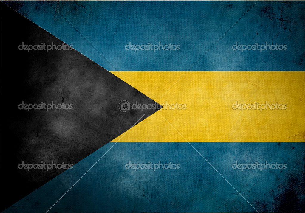 Bahamas flag on old and vintage grunge texture  Stock Photo #6945147