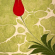 Ottoman Turkish Style Tulip Artwork - Stock Photo