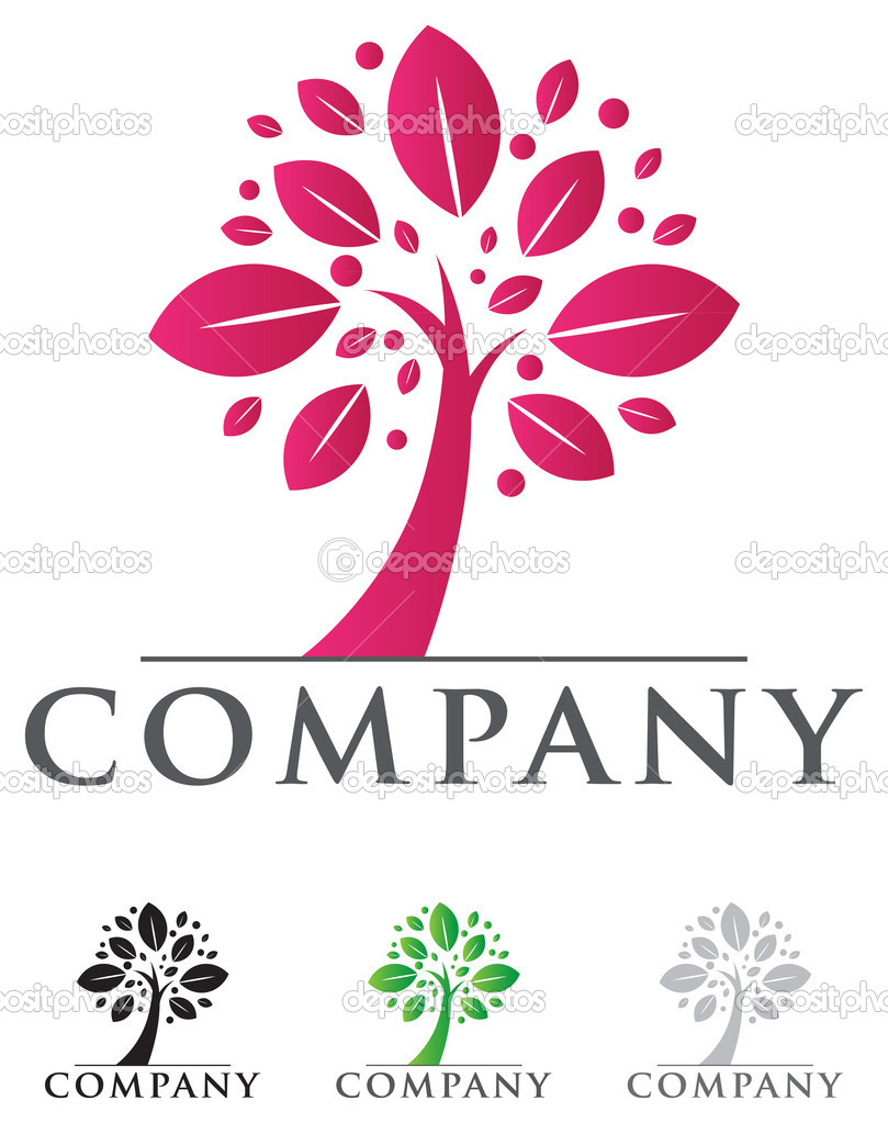 Elegant tree icon with sample typography for your business  Stock Vector #7371115