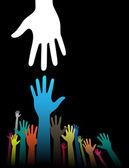 Helping Hands — Stock Vector