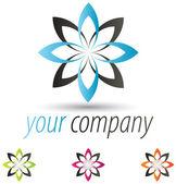Modern Flower Logo — Stock Vector