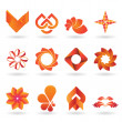 Contemporary Orange Logo and Icon Collection — Stok Vektör