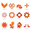 Contemporary Orange Logo and Icon Collection — Imagens vectoriais em stock