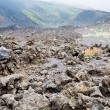 Lava rocks close up on volcano slope of Etna — Foto Stock